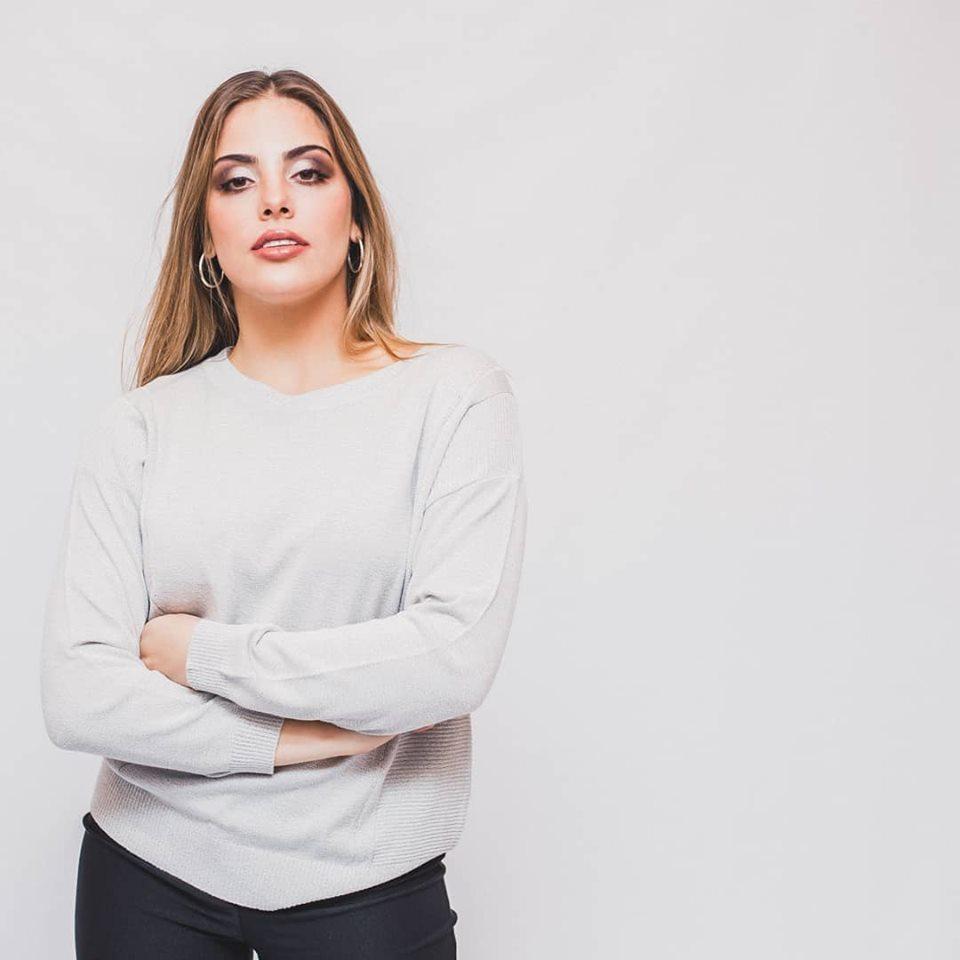 sweater hilo basicos mujer cuesta azul primavera verano 2020