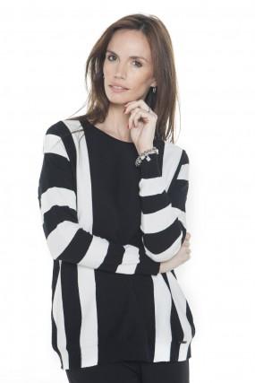 sweater tejido negro y blanco primavera verano 2020 Mujer Nuss tejidos