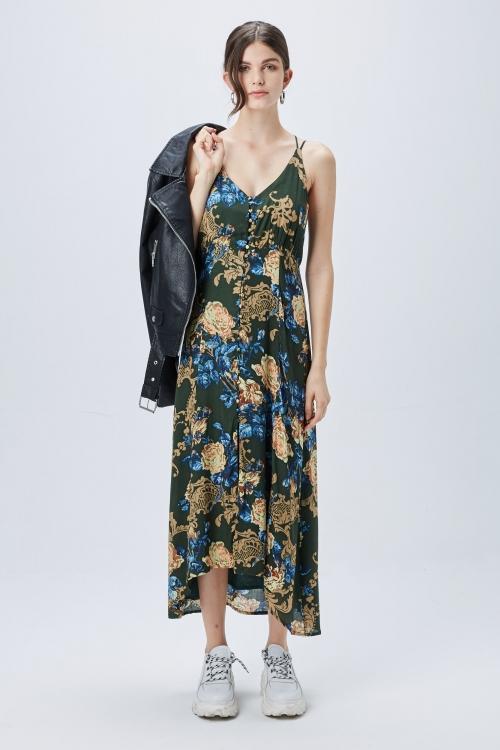 vestido con campera de cuero verano 2020 ST Marie