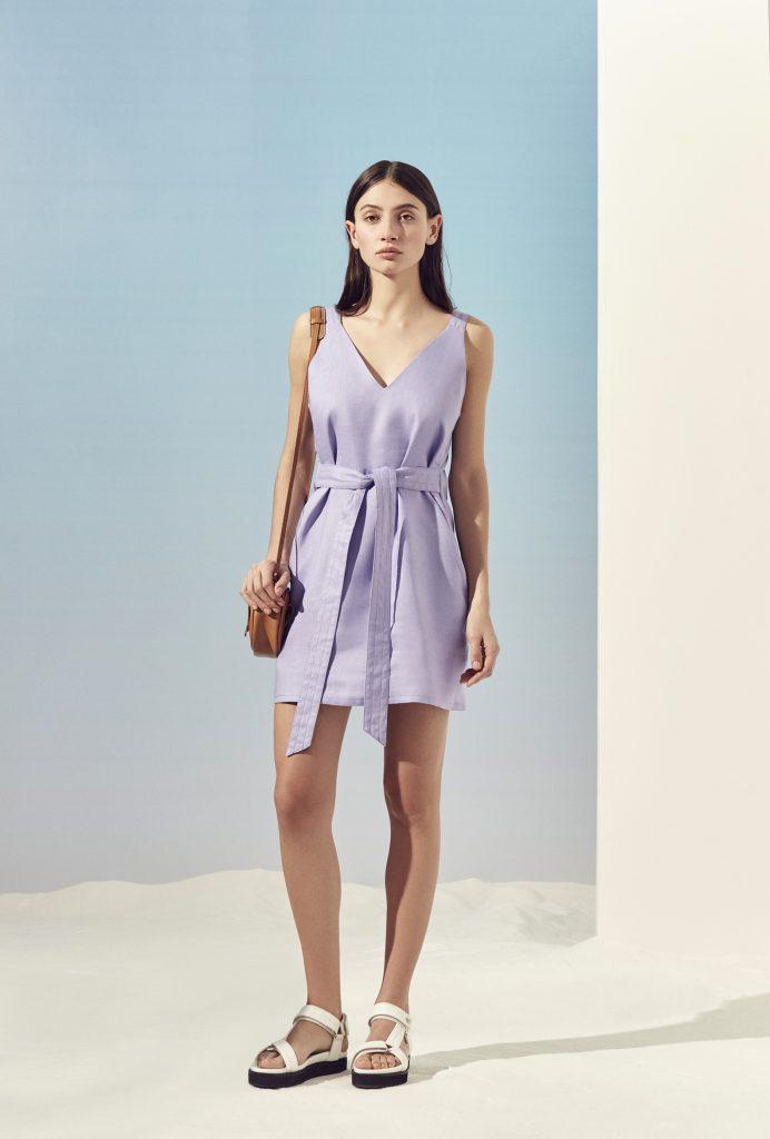 vestido corto de lino Ayres primavera verano 2020