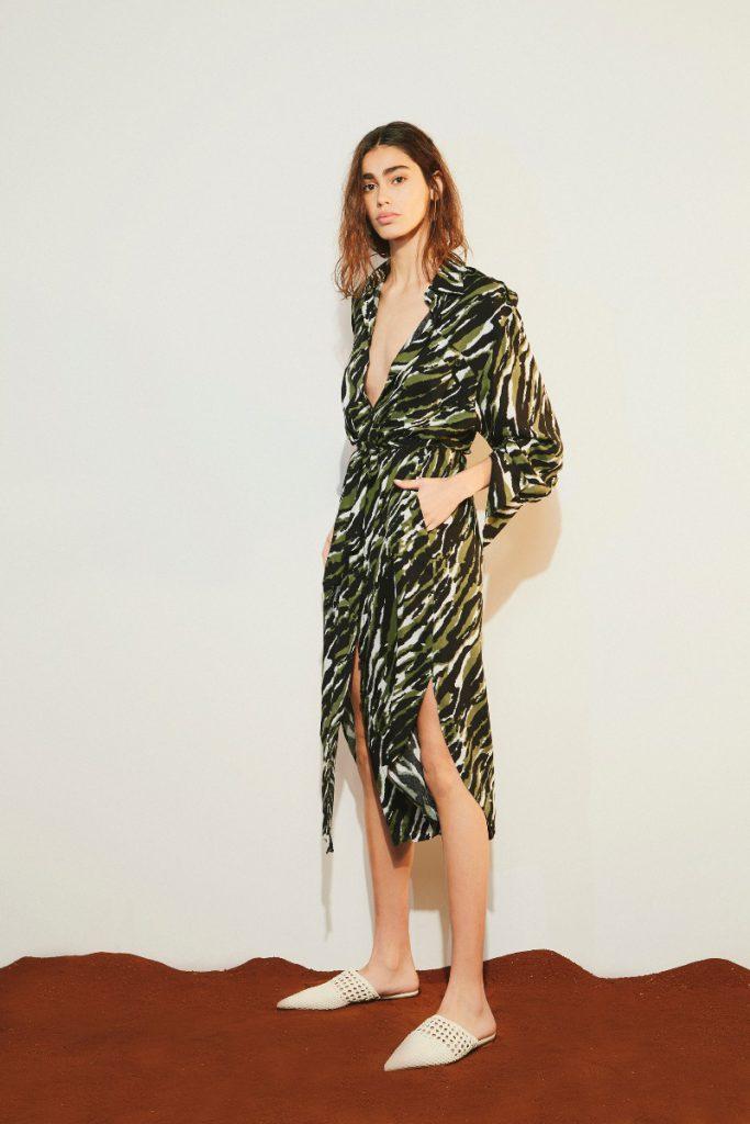 vestido estampado verano 2020 Delucca