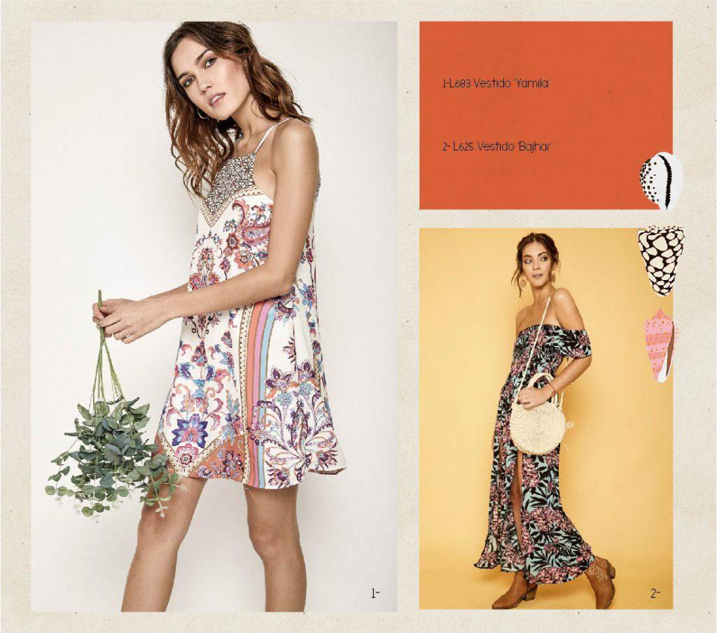 vestidos estampados Boho chic Rimmel verano 2020