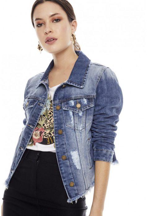 Campera jeans y minifalda primavera verano 2020 Sweet