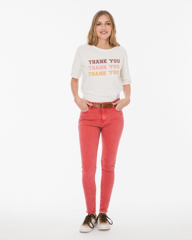 Jeans rojo verano 2020 Wanama Mujer