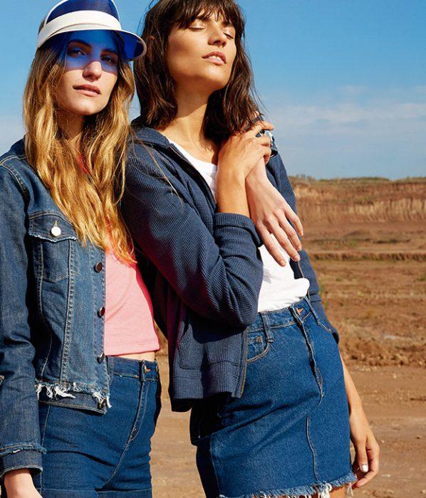 Minifalda jeans primavera verano 2020 Kimeika
