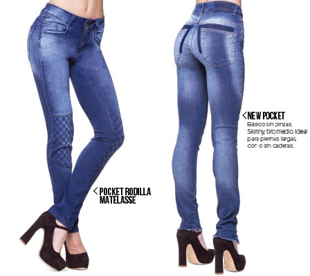 Octanos jeans con desteñidos lavados primavera verano 2020