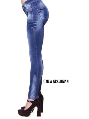 Octanos jeans con desteñidos localizados primavera verano 2020