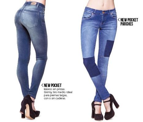 Octanos jeans con gastados y simil parche primavera verano 2020