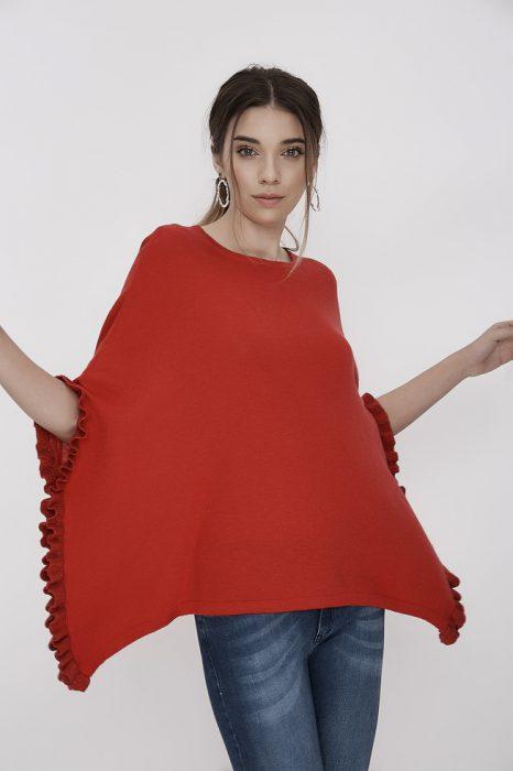 Poncho rojo primavera verano 2020 Millie BA