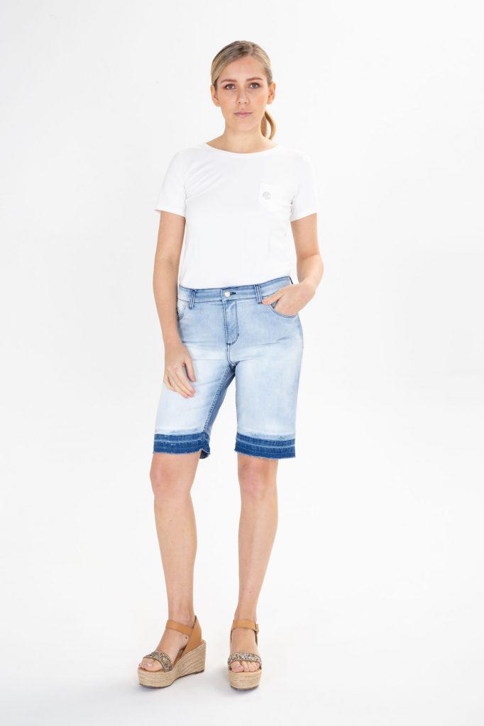 bermuda jeans para señoras verano 2020 Adriana Costantini