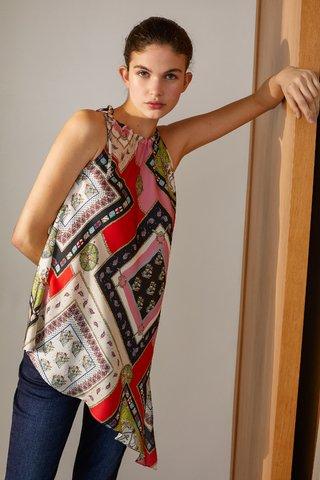blusa asimetrica estampada Carmela Achaval verano 2020