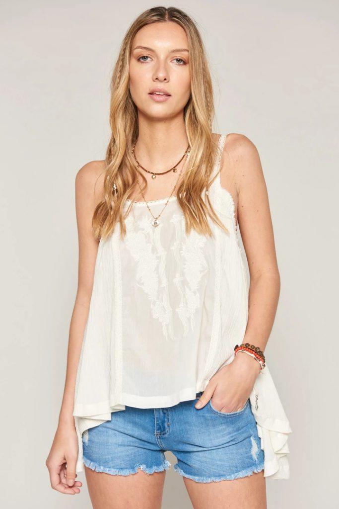 blusa blanca bordada verano 2020 Bendito Pie