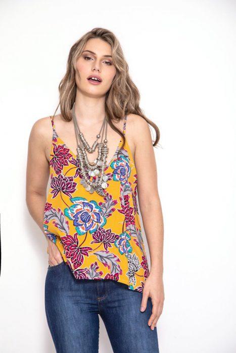 blusa floreada casual sophya verano 2020