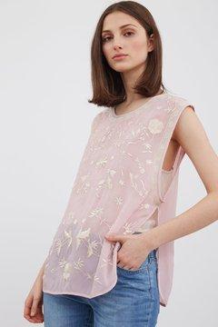 blusa rosa bordada primavera verano 2020 Vero Alfie