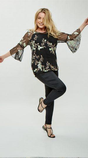 blusas microtul bordado para señoras Mamy blue verano 2020