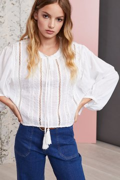 camisola blanca primavera verano 2020 Vero Alfie