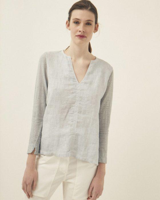 camisola de lino Graciela Naum verano 2020