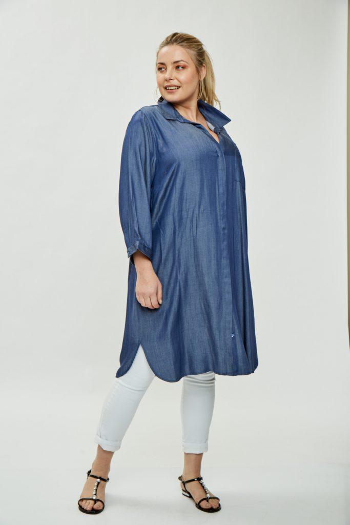 camisolas largas denim Mamy blue verano 2020