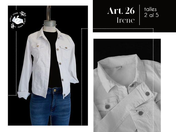 campera blanca jeans elastizada mujer ecole verano 2020