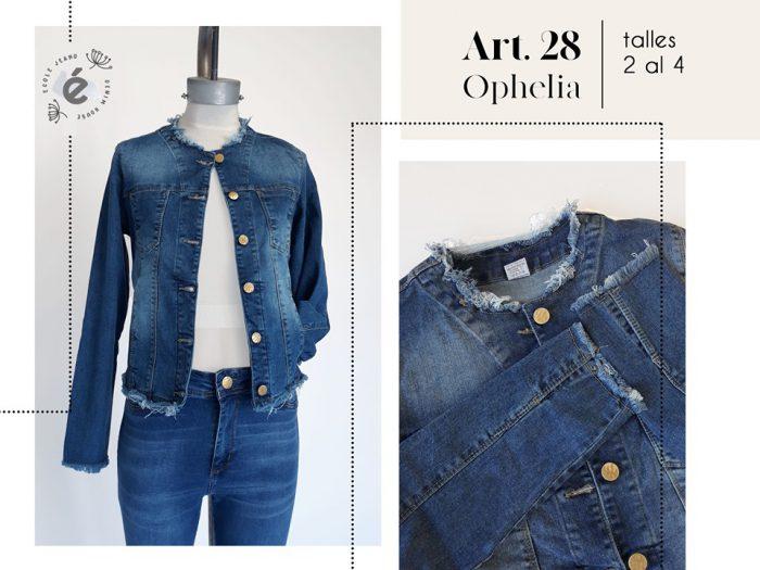 campera jeans cuello y ruedo desflecado mujer ecole verano 2020