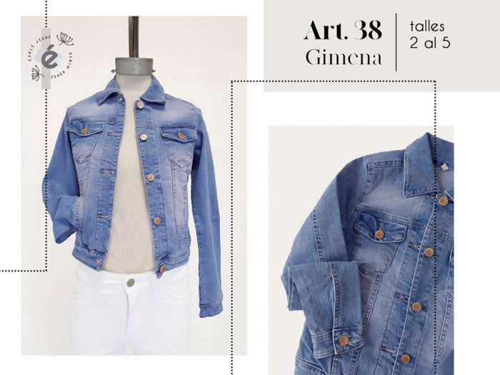 campera jeans mujer ecole verano 2020