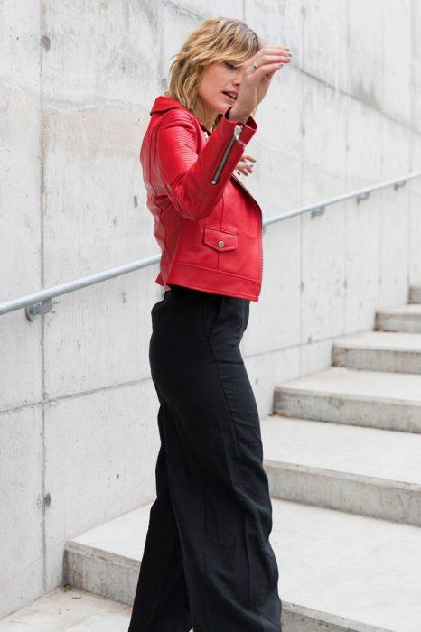 campera roja de cuero mujer Boken verano 2020