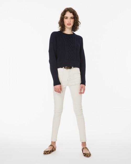 jeans blanco chupin verano 2020 Wanama Mujer