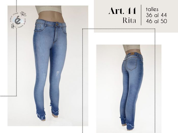 jeans celeste mujer ecole verano 2020