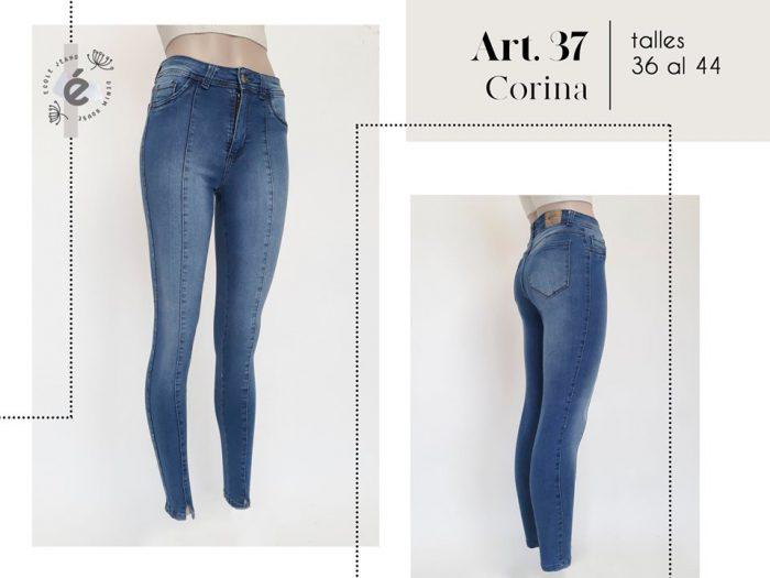 jeans con costura mujer ecole verano 2020