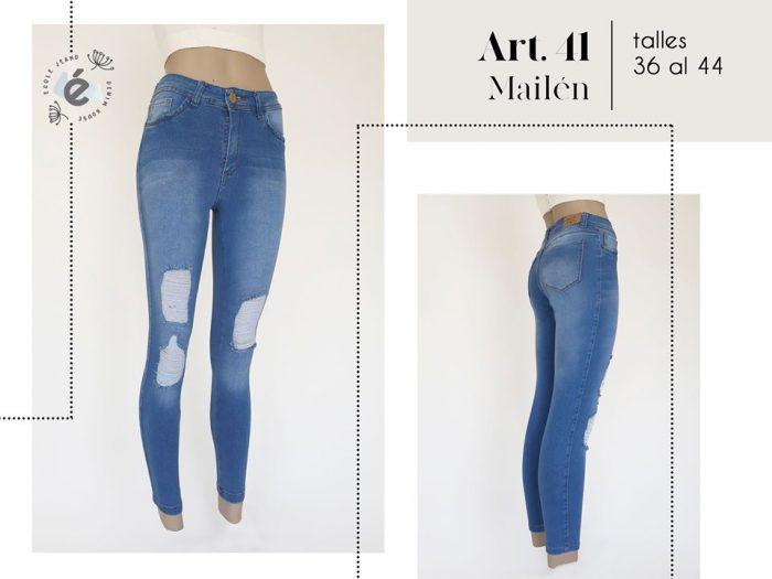 jeans con roturas mujer ecole verano 2020