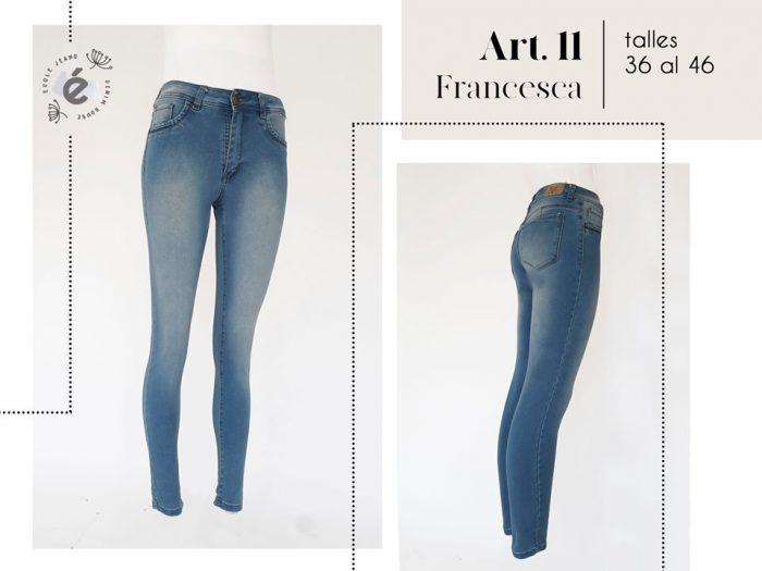 jeans oxido clasico chupin mujer ecole verano 2020
