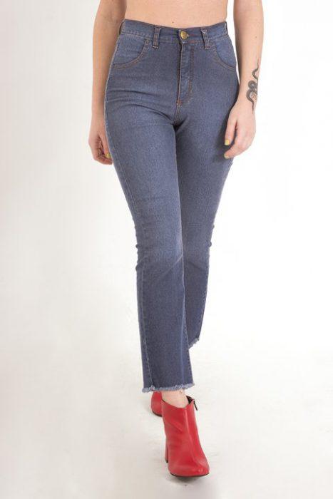 jeans recto ruedo desflecado Clan Issime verano 2020