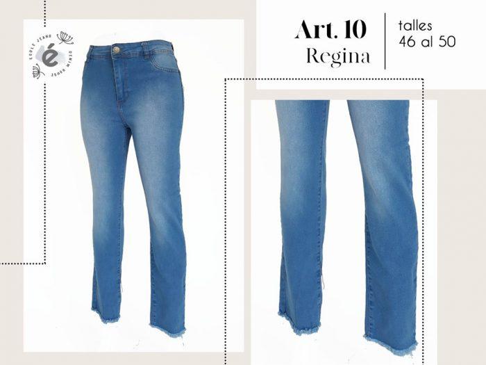 jeans recto ruedo desflecado mujer ecole verano 2020