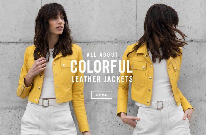 look urbano campera de cuero amarilla Boken verano 2020