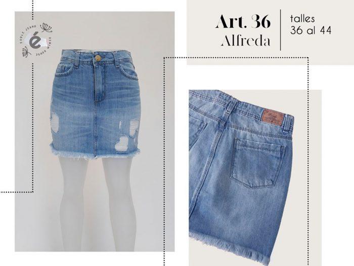 minifalda con roturas mujer ecole verano 2020
