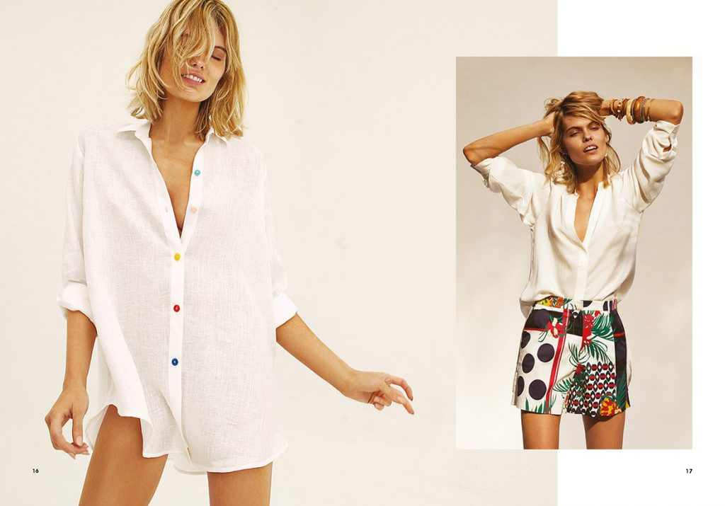 minifalda estampada Garofalo verano 2020