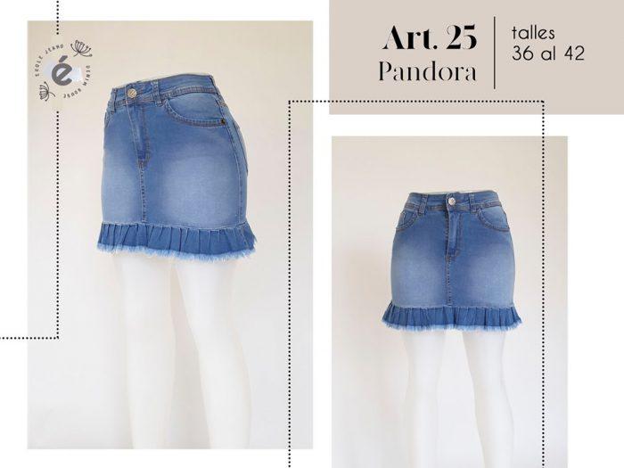 minifalda jeans con volado mujer ecole verano 2020