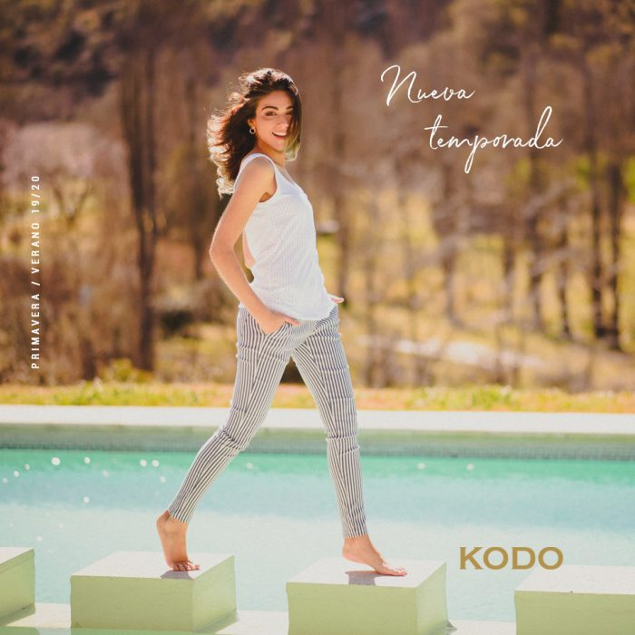 pantalon a rayas mujer kodo jeans verano 2020