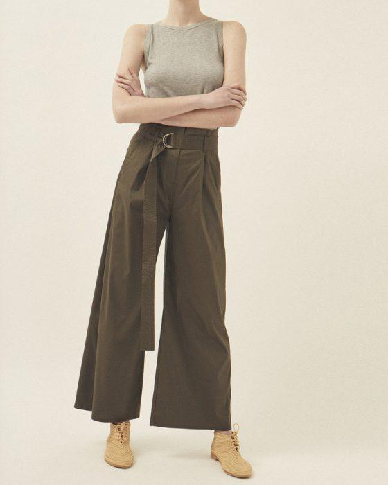 pantalon de vestir oxford tiro alto Graciela Naum verano 2020