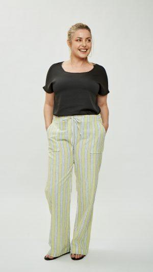 pantalones de vestir mujer talles grandes Mamy blue verano 2020
