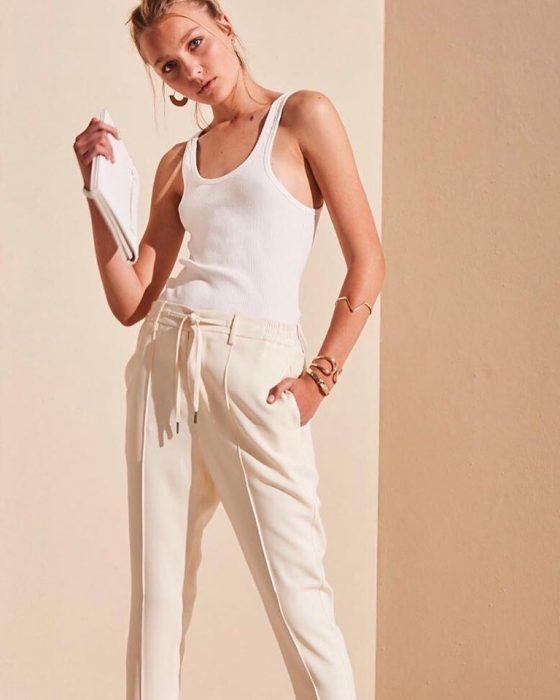 pantalones de vestir para mujer Akiabara verano 2020