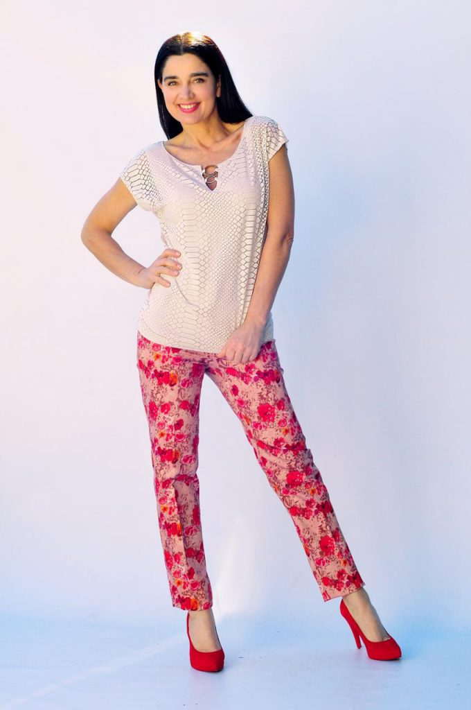 pantalones estampados señoras Veramo talles grandes verano
