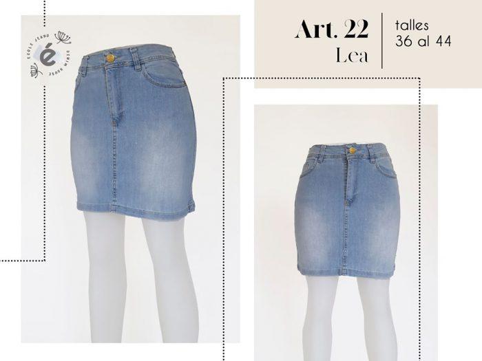 polleras jeans mujer ecole verano 2020