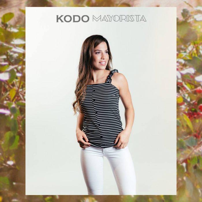 remera a rayas mujer Kodo jeans verano 2020