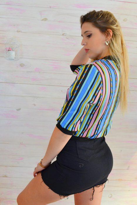 remera rayas colores juvenil mujer dorcastar verano 2020