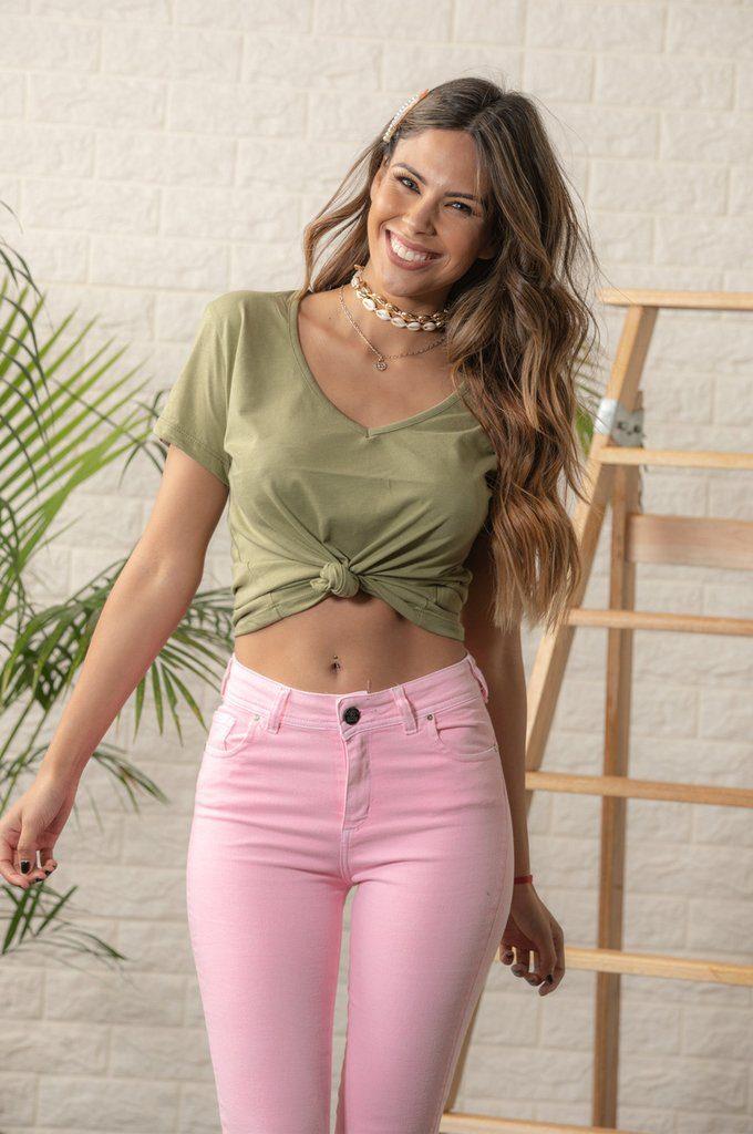 scombro jeans rosa verano 2020