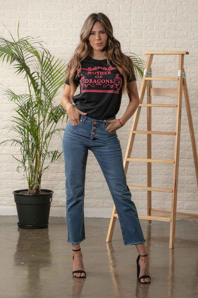 scombro jeans ruedo desflecado verano 2020