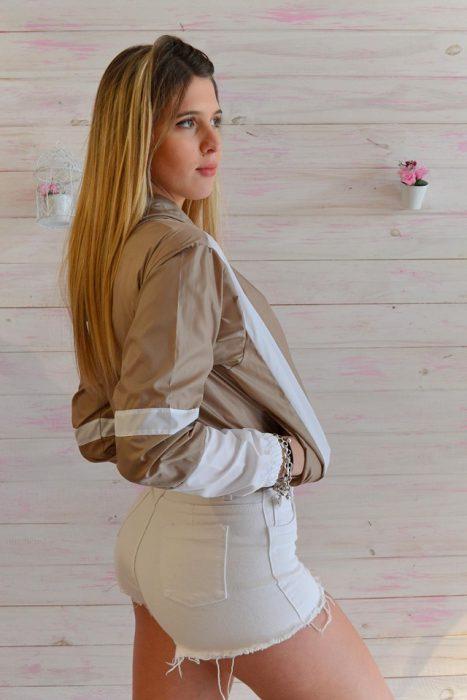 short jeans blanco docastar verano 2020