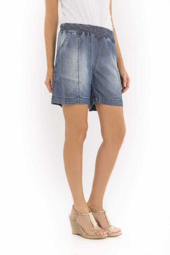 short jeans cintura elastizada para señoras verano 2020 Adriana Costantini
