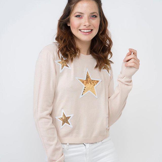 sweater hilo con estrellas Enriquiana Tejidos verano 2020